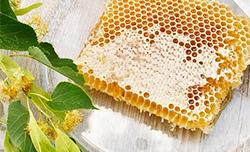 Naturalny miód pszczeli w plastrze.