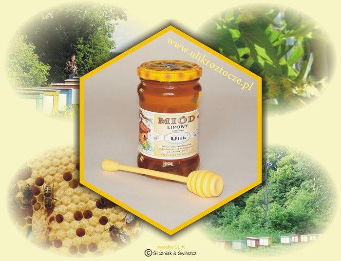 naturalny miód pszczeli lipowy z pasieki ULIK na Roztoczu