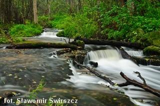 Wodospady na rzece Sopot