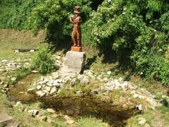 Drewniany pomnik chrząszcza